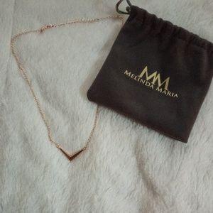 Melinda Maria, rose gold mini adjustable necklace